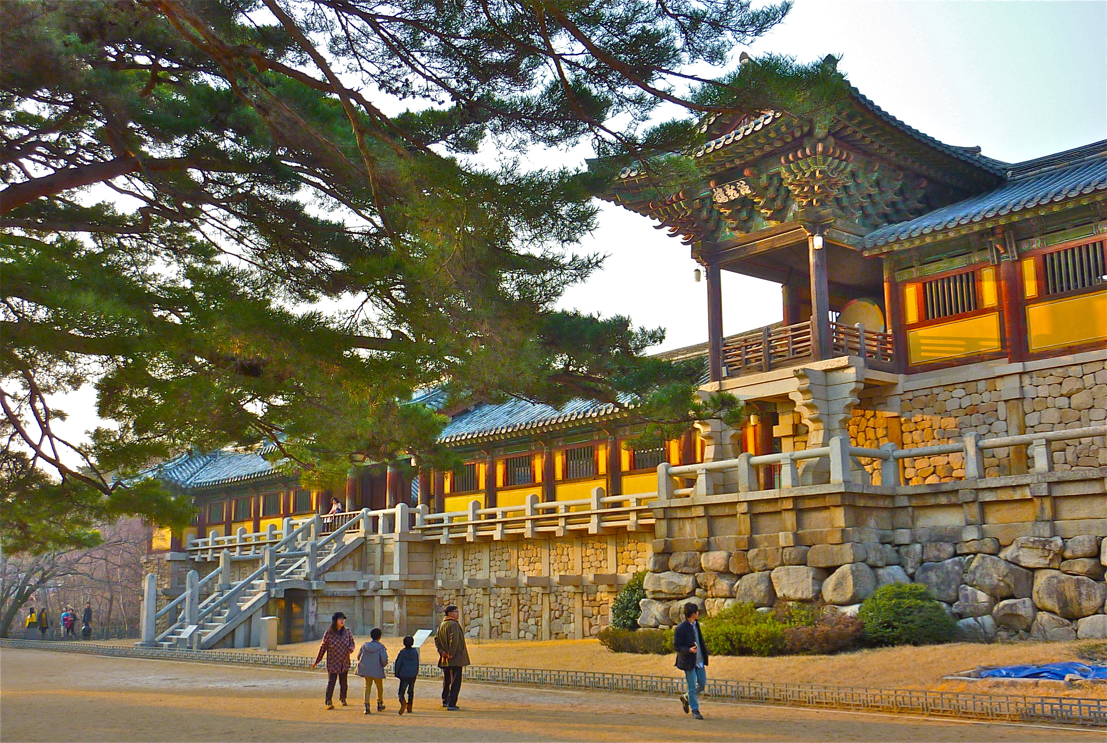 1 By The South Korean Government Entrance To Temple Sokgyemun Has A Double Sectioned Staircase And Bridge National Treasure No